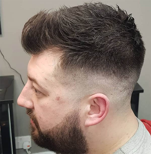Textured Hair and Skin Fade - Medium Length Hairstyles For Men