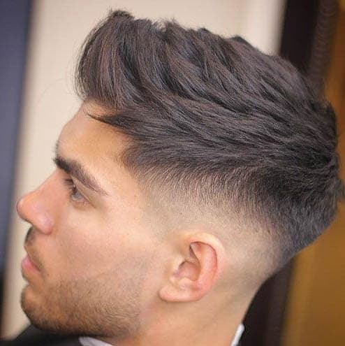 Textured Spiky Hair - Mid Fade Haircuts For The Stylish Man