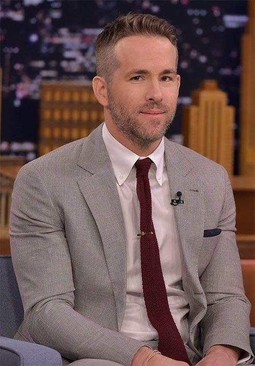 Textured Style - Ryan Reynolds Best Haircuts