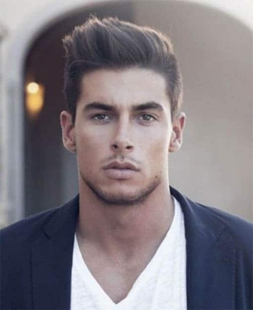 The Angular Pomp - Short Sides Long Top Hairstyles For Men
