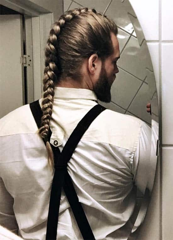 The Braided Fauxhawk - best Viking Hairstyles