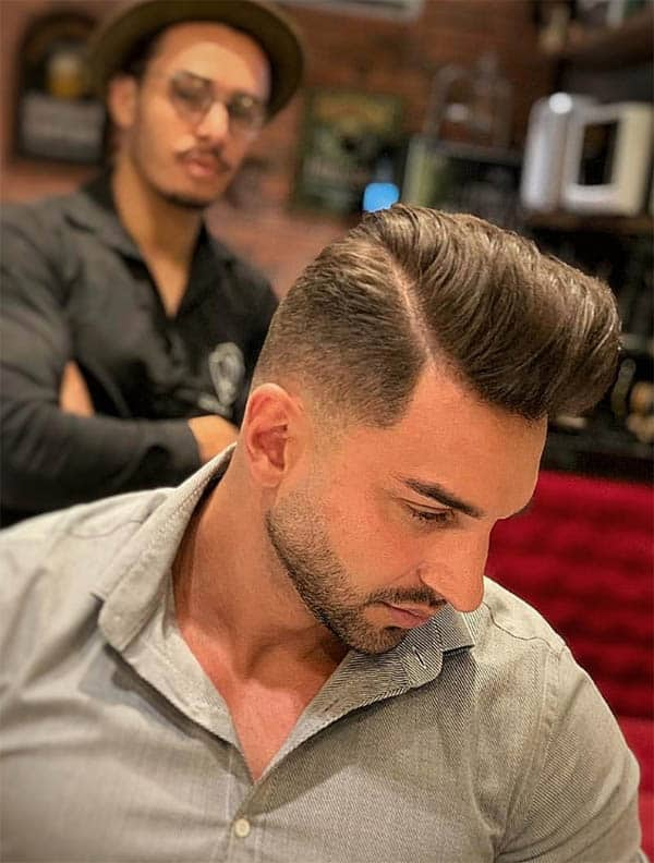 The Gelled and Textured Haircut - Short Sides Long Top Hairstyles For Men