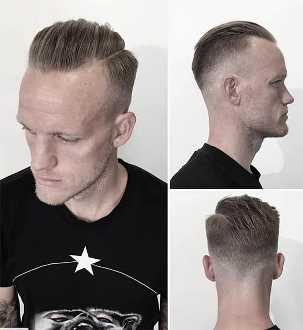 The Medium Slick Back - Haircuts For Balding Men