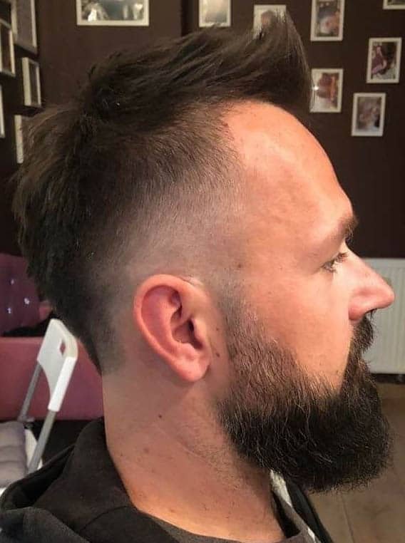 The Slightly Angled Faux Hawk - Short Sides Long Top Hairstyles For Men