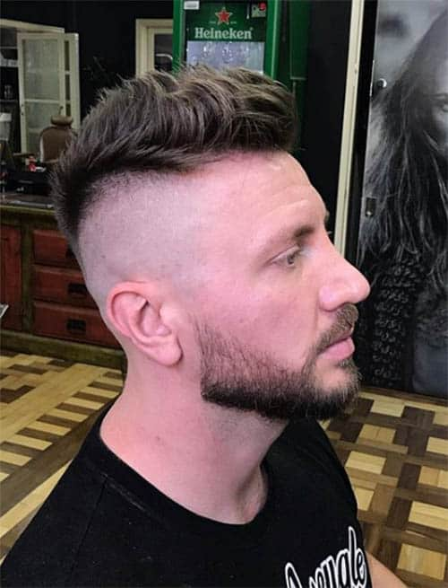The Tipped Faux Hawk Cut - Short Sides Long Top Hairstyles For Men