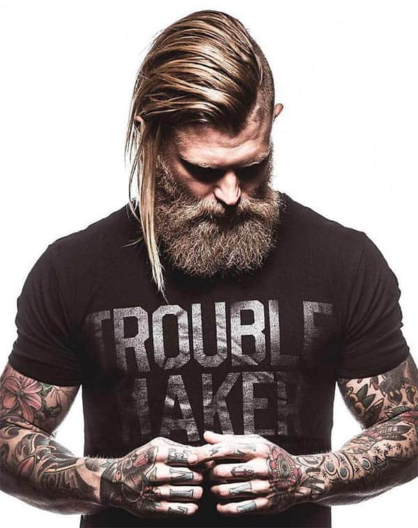 The Viking Cut - Men's Long Hair With Undercut Hairstyles