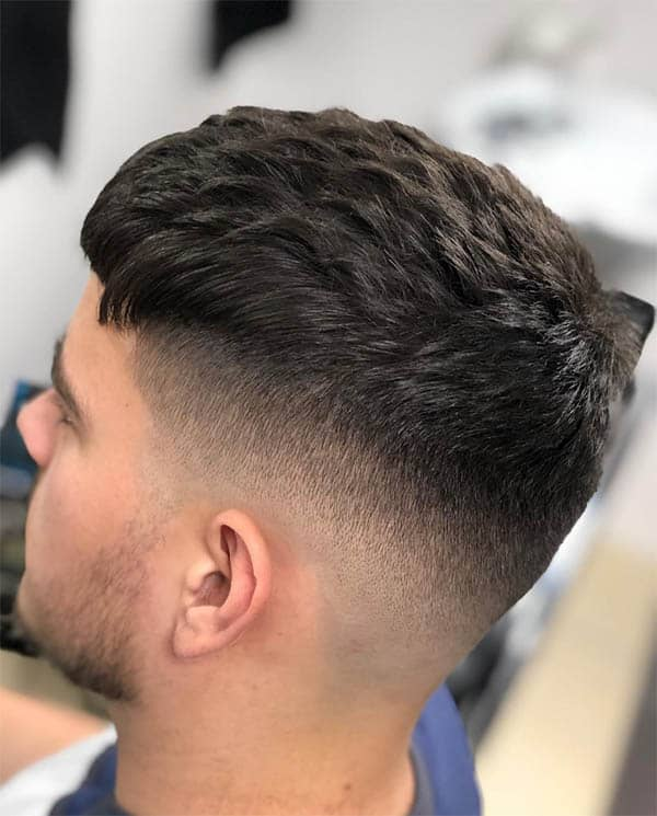 Thick Crop + Fade - Men's Wavy Hairstyles