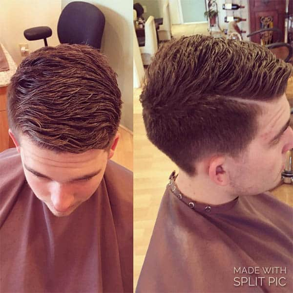 Thick Hair on Top - Mid Fade Haircuts For The Stylish Man