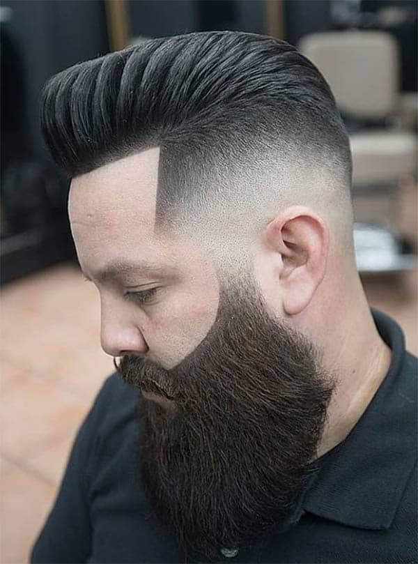 Thickly Textured High Quiff With Beard - Best Quiff Haircuts For Men