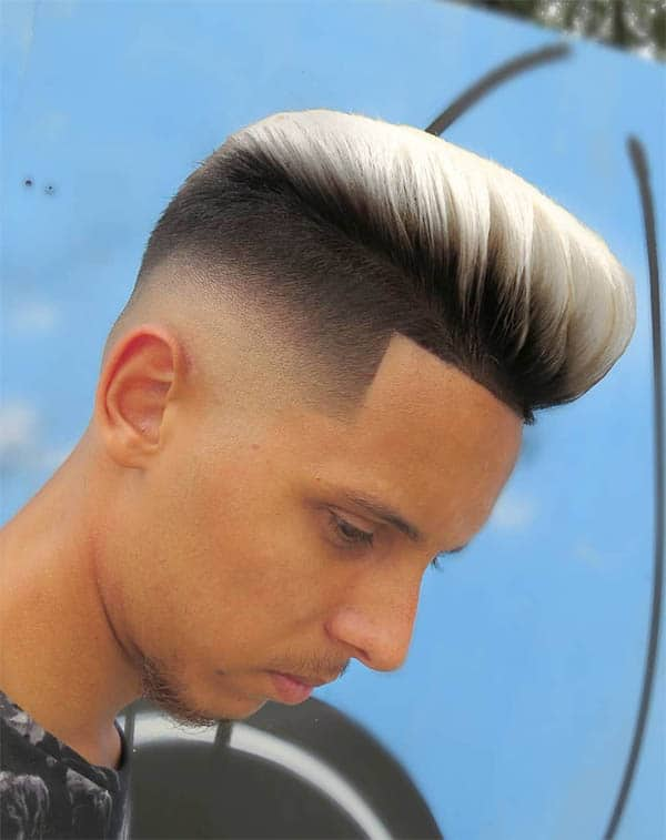 Top Dyed Hair With Taper Fade - Best Quiff Haircuts For Men