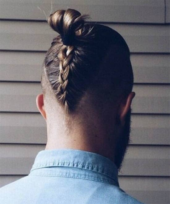 Top Knot with Braid - Trendy Samurai Hairstyles