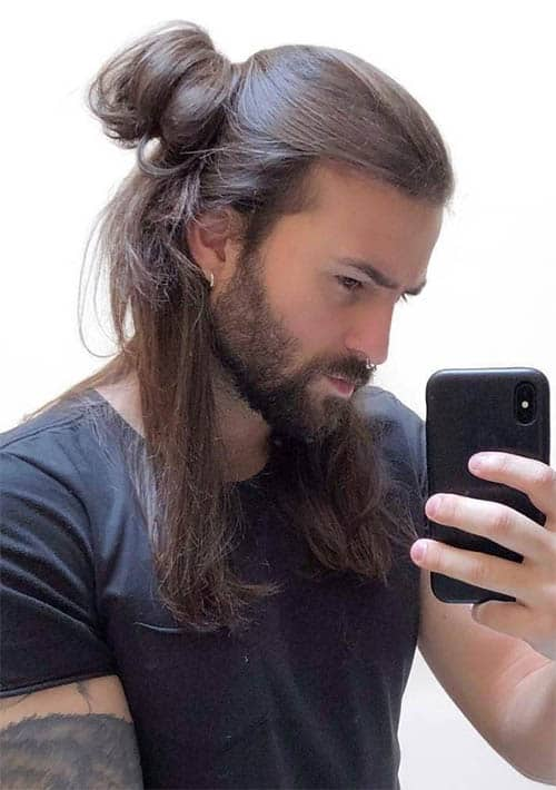 Twisted Bun - Long Haircuts For Men