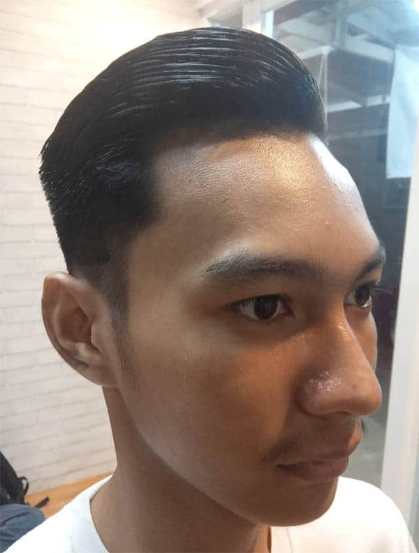 Under Shaved Slick Back Haircut For Men