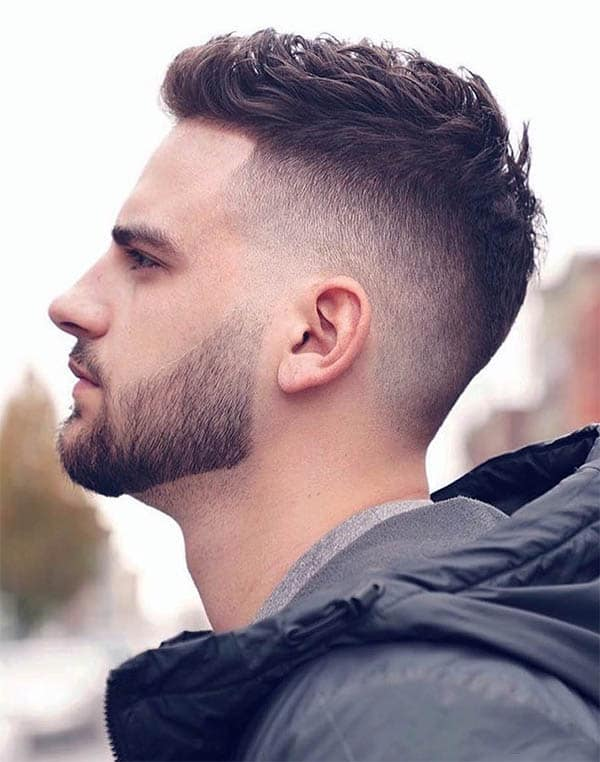 Undercut + Faded Beard - Disconnected Undercut Hairstyles