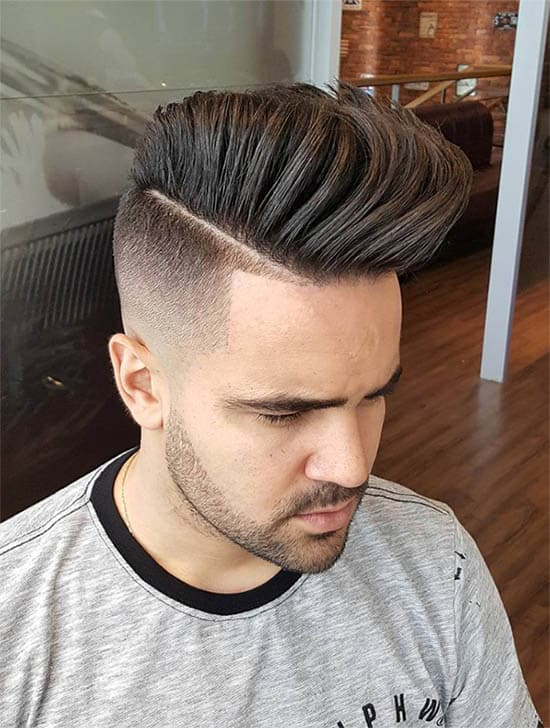 Undercut with High Fade - High Top Fade Haircuts