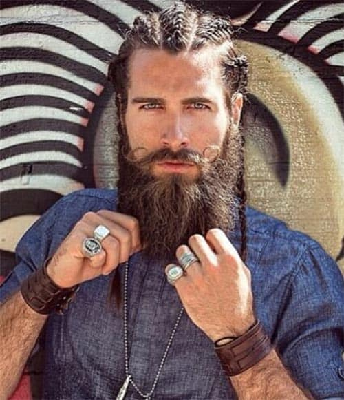 Viking Hairstyle with Cornrows - best Viking Hairstyles