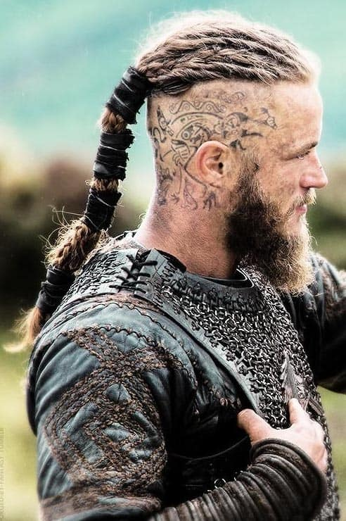 Viking Hairstyle with Hair Tattoos - best Viking Hairstyles