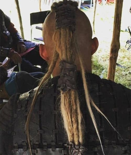 Vikings Hairstyles with Tied Dreadlocks