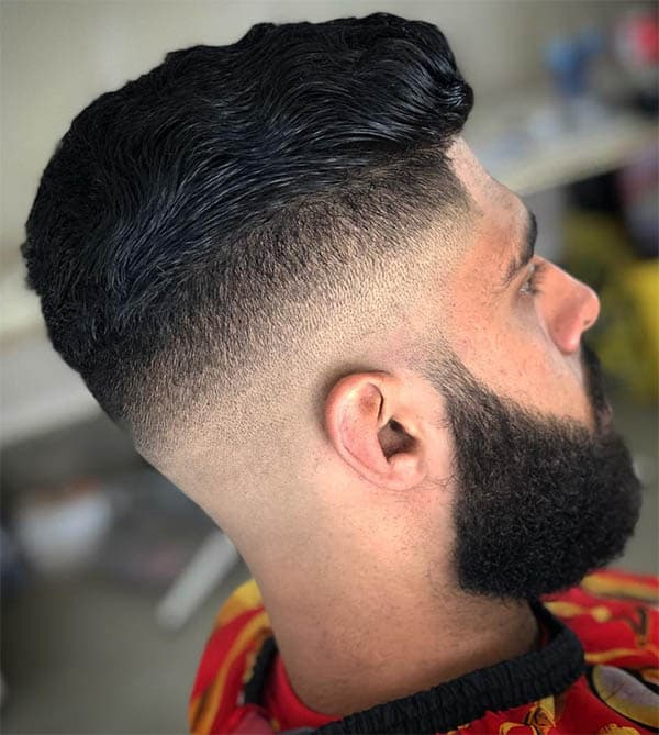 Wavy Comb Over + Fade + Beard - Men's Wavy Hairstyles