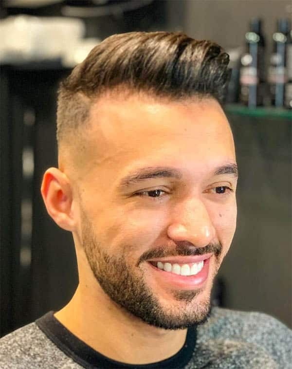 Wavy Fade - Men's Long Hair With Undercut Hairstyles