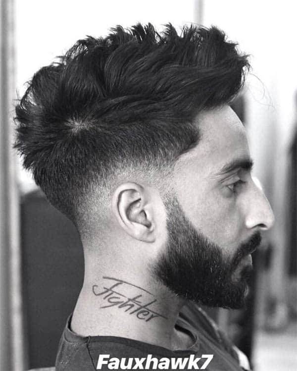 Wavy Faux Hawk - Men's Wavy Hairstyles