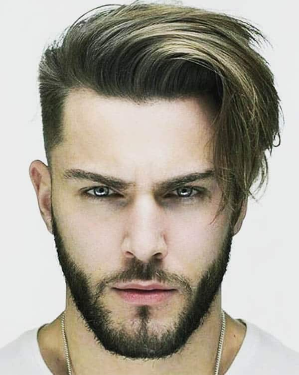 Wavy Low Fade with Beard - Men's Long Hair With Undercut Hairstyles