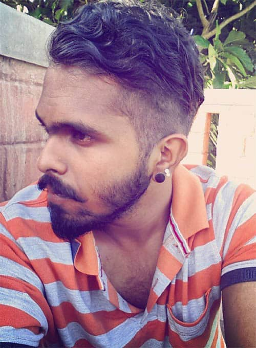 Wavy Skin Fade with Beard - Men's Long Hair With Undercut Hairstyles