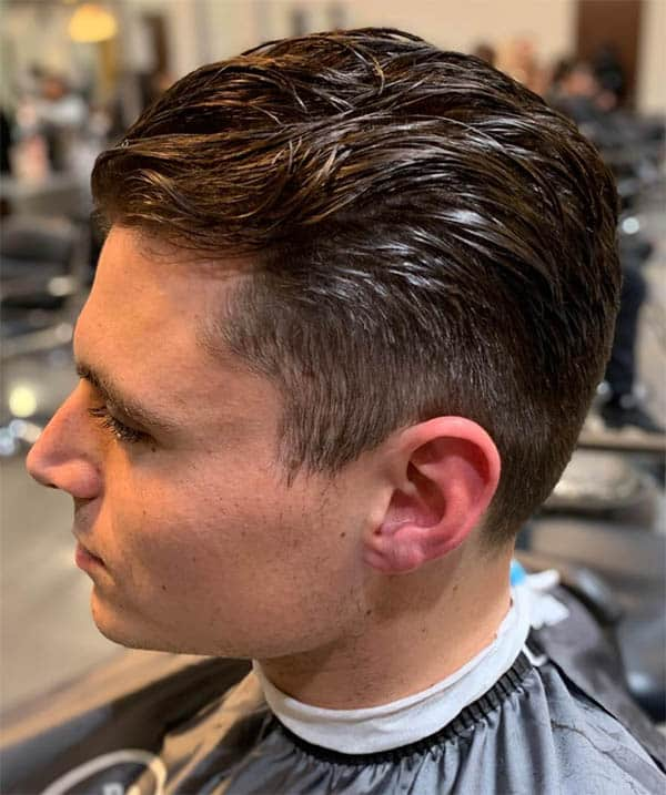Wet and Wide Slick Back Haircuts For Men