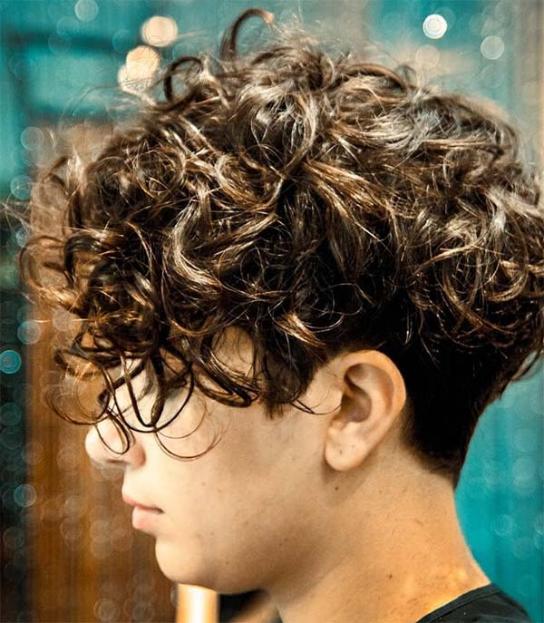 A Curly Angled Bob - Short Curly Hair Styles For Women
