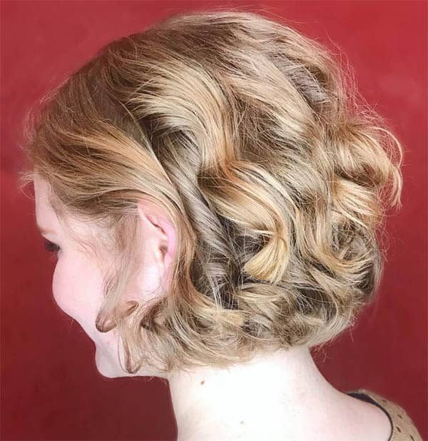 Blonde and Curly - Short Curly Hair Styles For Women