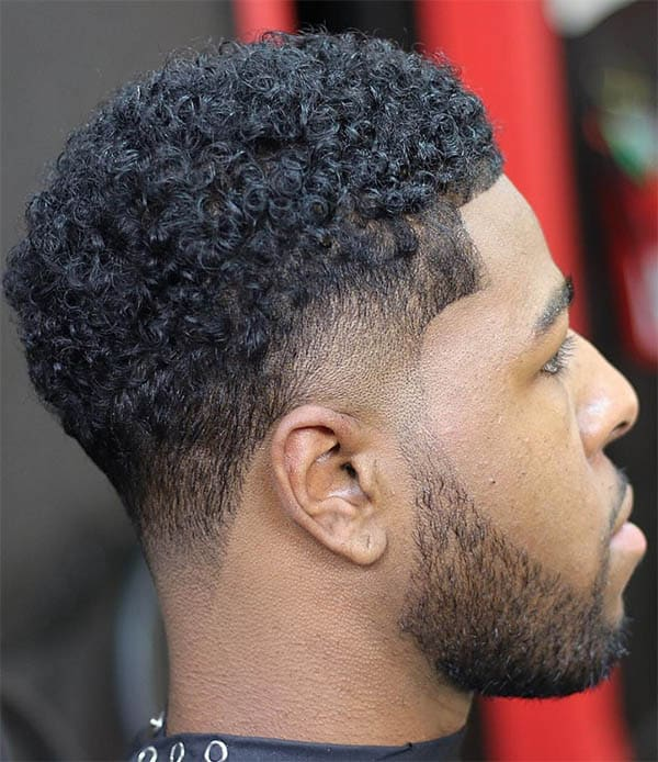 Curl Skin Fade Haircut