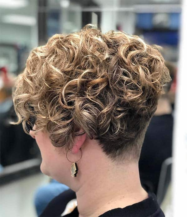 Curly Blonde Pomp - Short Curly Hair Styles For Women