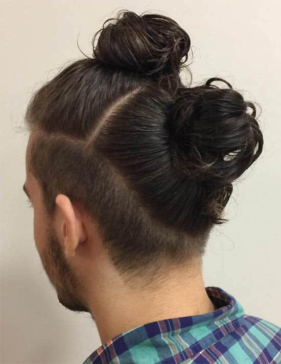Double Man Bun - Best Man Bun Hairstyles