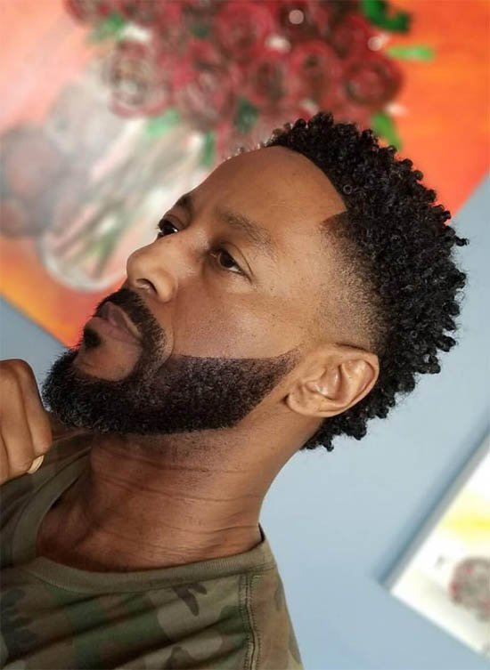 Fade + Beard - Haircuts For Black Men