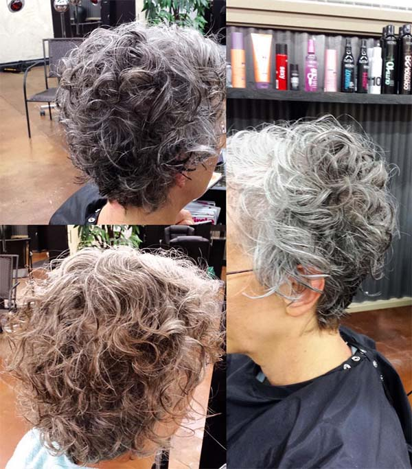 Grey and Cute - Short Curly Hair Styles For Women