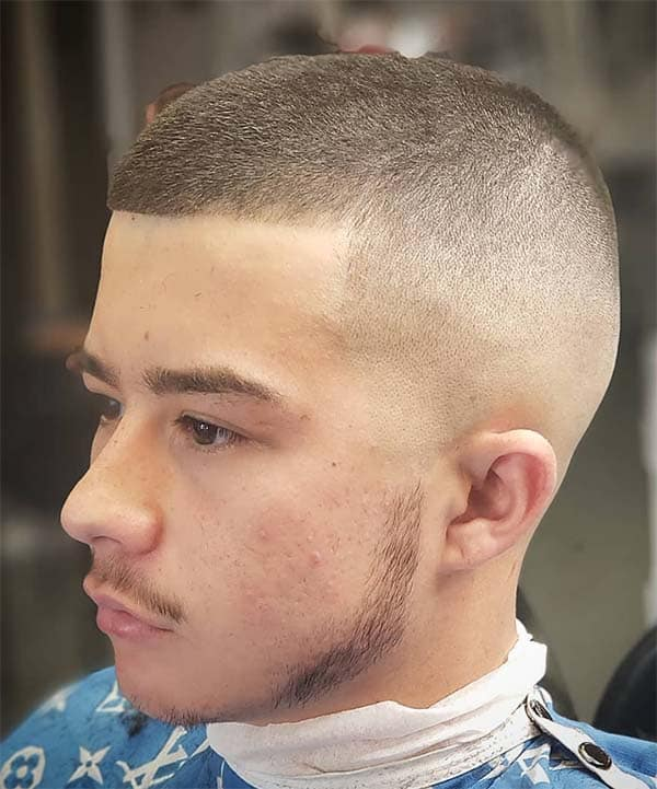 High And Tight Caesar Haircut