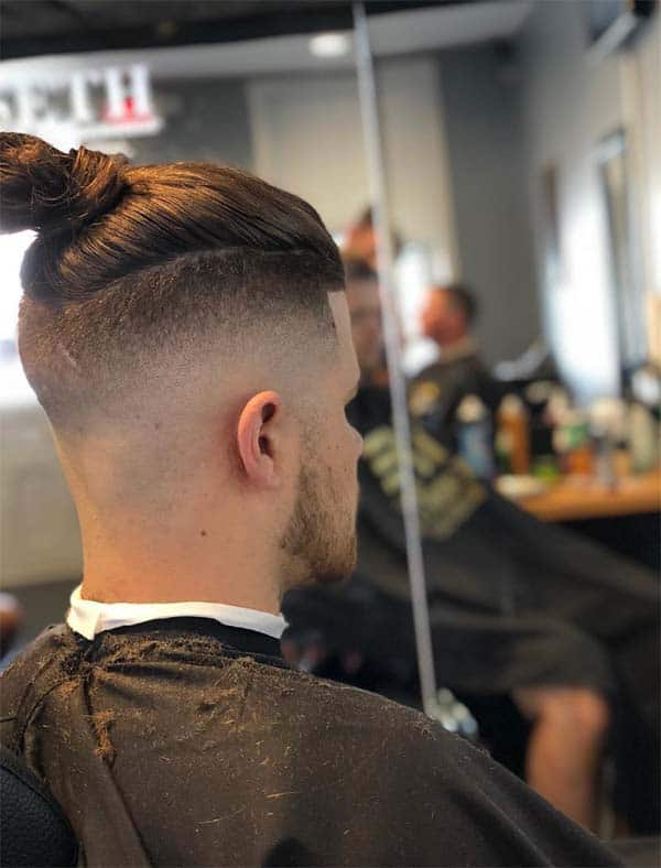 High And Tight Haircut + Man Bun