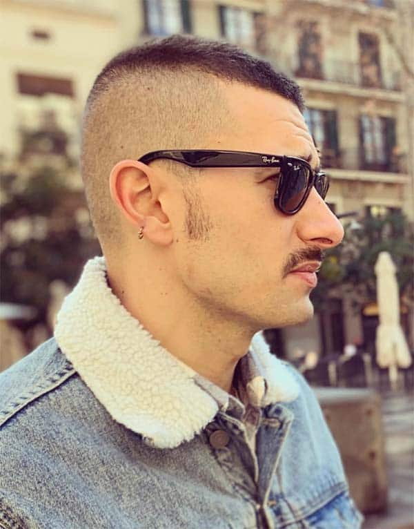 High And Tight Haircut + Moustache