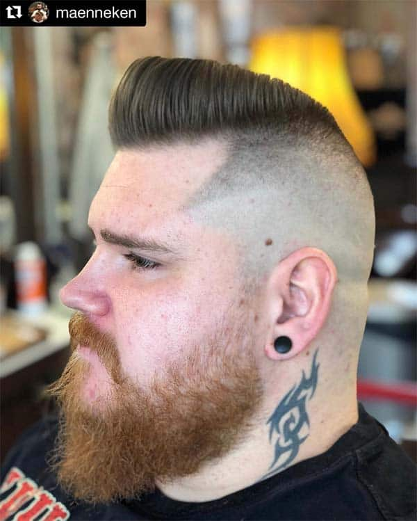 High And Tight Pompadour Haircut