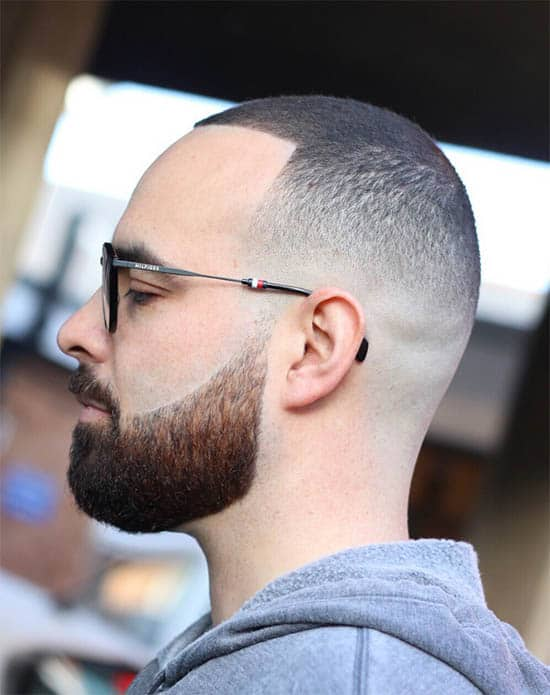 High Fade Buzz with Beard