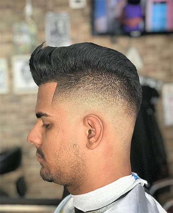 High Fade Disconnected Pompadour