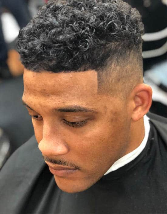 High Fade + Short Curls