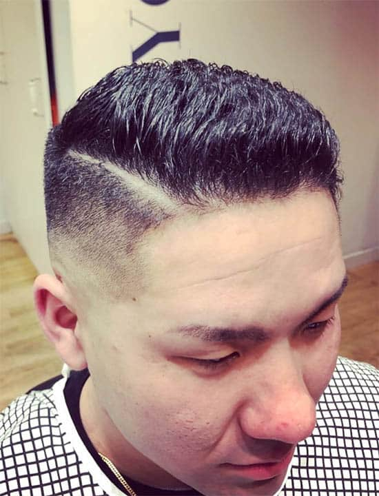 High Fade with Sided Part