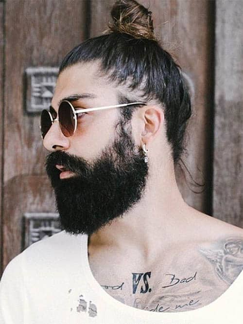 High Pony Knot - Best Man Bun Hairstyles