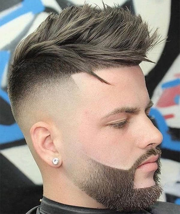 High Skin Fade Line Up with Slicked Back