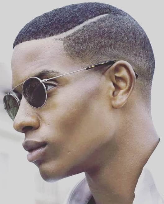 Low Fade + Razor Line - Best Buzz Haircuts For Men