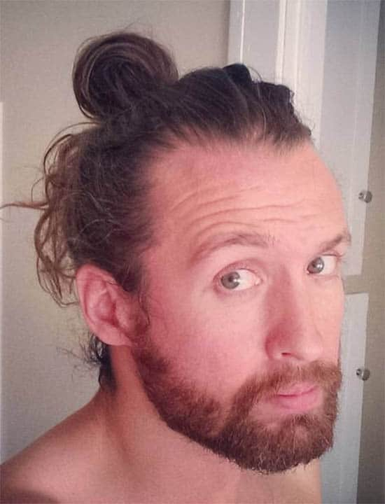 Low Knot - Best Man Bun Hairstyles