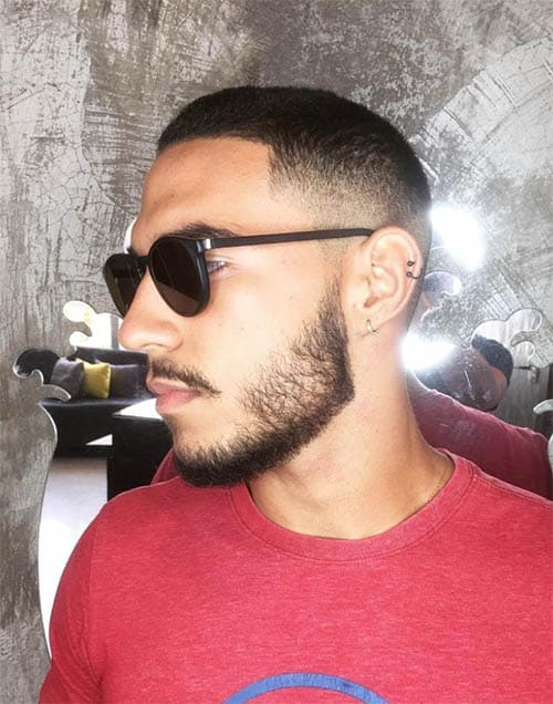 Medium Fade Short with Beard - Best Crew Cut Hairstyles