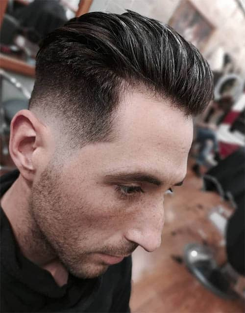 Medium Fade Slick Back - Best Crew Cut Hairstyles