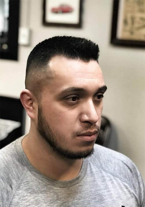 Medium Fade with Chin Strap - Best Crew Cut Hairstyles